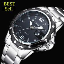 2017 biden hombres llenos de acero relojes deportes de la moda masculina reloj de cuarzo reloj de hombre militar impermeable relojes de pulsera relogio masculino