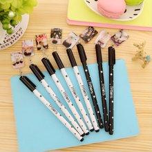 2 pcs South Korea's creative stationery TFBOYS cute trend gel pen notes 0.38 mm full needle pen black ink
