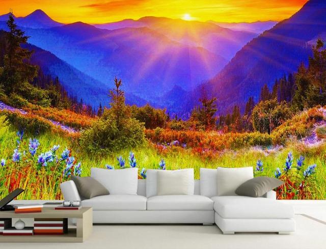 Natural Scenery Wallpaper Custom 3d Photo Wallpaper Peacock Lotus ...