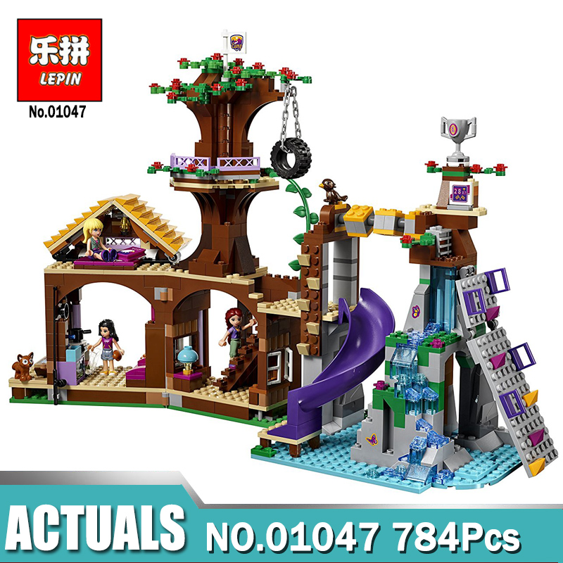 Lepin Livi's 01046 POP Star House/ 01047 Adventure Camp Tree House Compatible Legoinglys 41122 41135 Friend Girls Brick Toys lepin 01046 girls club friends livi s pop star house building blocks compatible with friends house 41135 brick toys