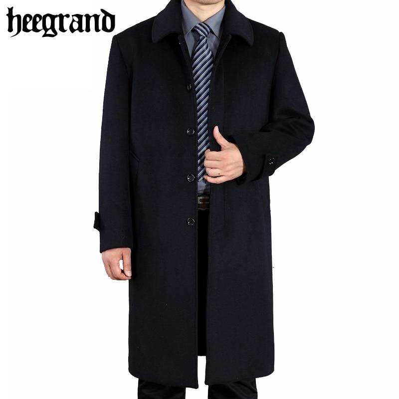 HEE GRAND/Для Мужчин's Шерстяные пиджаки весна шерстяные пальто Для мужчин Однобортный Шерстяные пиджаки пальто большой Размеры Англия Стиль ...