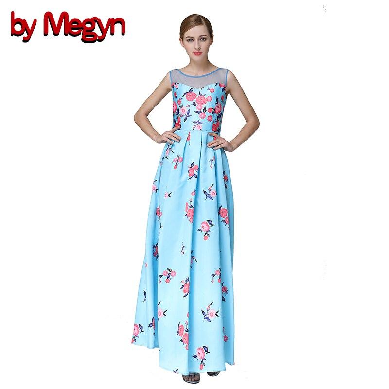 by Megyn 2017 Runway Women High Quality Sleeveless Dress Floral Print Backless Gauze Collar Vintage Dress