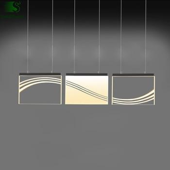 Modern Kaplama Metal Led kolye Lamba Parlaklık Akrilik Yemek Odası Led kolye Işıkları Led sarkıt aydınlatma Lambası Luminaria Armatürleri