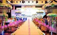 10pcs Lot 2 Tiers H 150cm 59 Wedding Decoration Ferris Wheel Crystal Road Lead Centerpieces Include