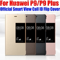 Case For HUAWEI P9 PLUS Original 1 1 Official Smart View Case Call ID Leather Flip
