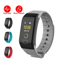 2pcs/lot Smart Band Color Screen Sports Bracelet Heart Rate Blood Pressure Monitor Activity Tracker for Android IOS
