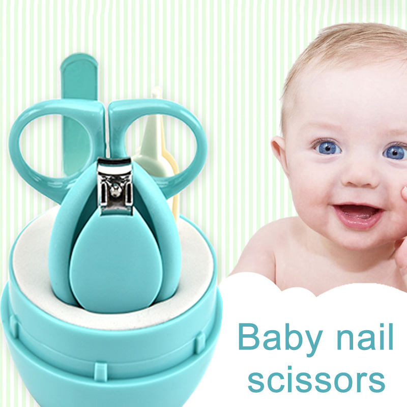 Lovely Baby Nail Care Set Scissors Clipper Trimmer Convenient Nail Shell Shear Manicure Kit  AN88