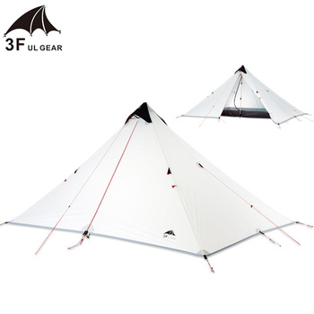 3F UL Pyramid 15d Single Person Ultraligth Double Layers Tent  Ultralight 3 Season 2