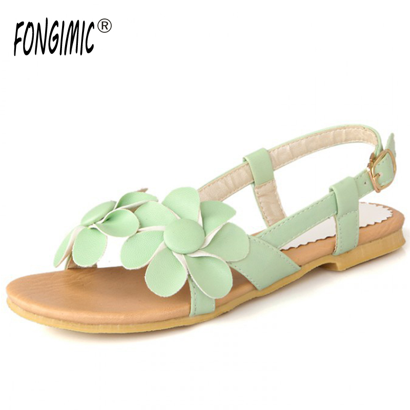Summer top sale women flat high quality fashion little daisy flower beach  countryside wind casual seaside women shoes sandals-in Women s Sandals from  Shoes ... 607ef334bb37