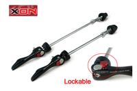 XON mountain bike hub Lockable QR quick release Bicycle Skewer safety lock quickrelease for safe riding