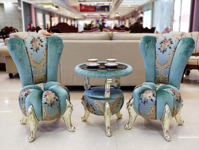 European style center/coffee/tea table with two chairs european popular bar chair coffee tea