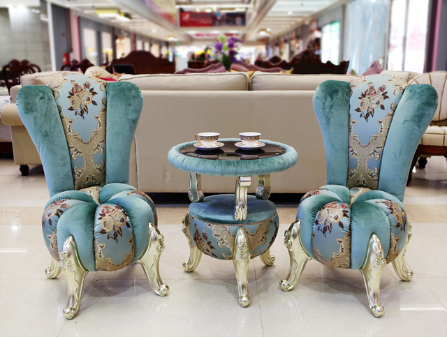 Special European Style Center Coffee Tea Table With Two Chairs