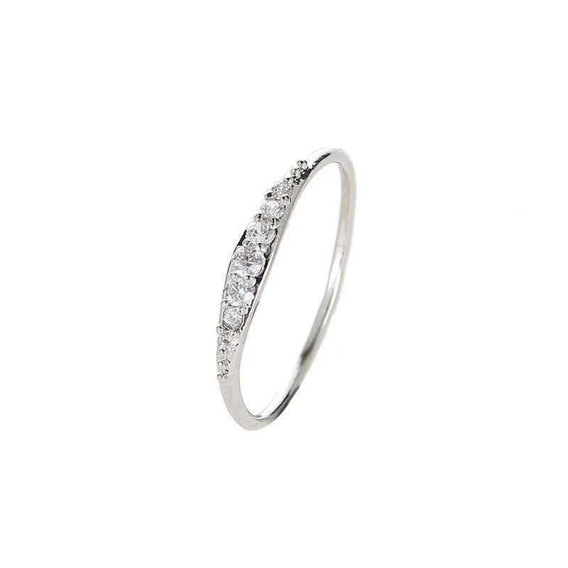 Rhinestone Bowknot แหวนปรับขนาดได้ Big Zircon Silver และ Rose Gold ชุบแหวนสำหรับคริสตัลงานแต่งงาน Rin