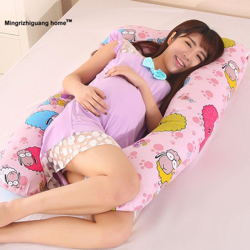 1 PC 130x70 cm la grossesse Confortable U type oreillers oreiller de Corps Pour Les Femmes Enceintes Meilleur Pour Côté Traverses amovible OU 025