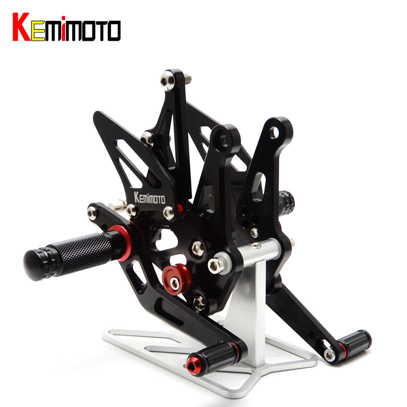 KEMiMOTO Z1000 Z 1000 Rearset Foot Rest Set foot stand for KAWASAKI Z1000 2014 Motorcycle Accessories CNC Adjustable adjustable rearset foot rest black for bmw s1000rr 2015 2016 motorcycle accessories after market