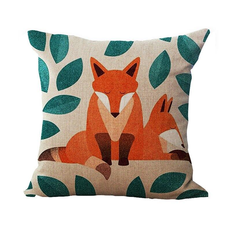 Cartoon Handpainted Fox Decorative CushionPillownot Including - Painted fox home