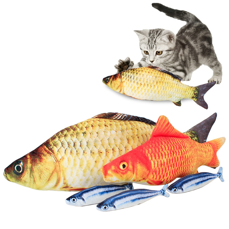 Products For Cats And Dog Realistic Fleece Fish Toy
