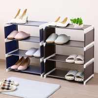 Nicht-woven Lagerung Schuh Rack Flur Schrank Einstellbare Organizer Halter Abnehmbare Tür Schuh Lagerung Regal DIY Einfach Zu Installieren