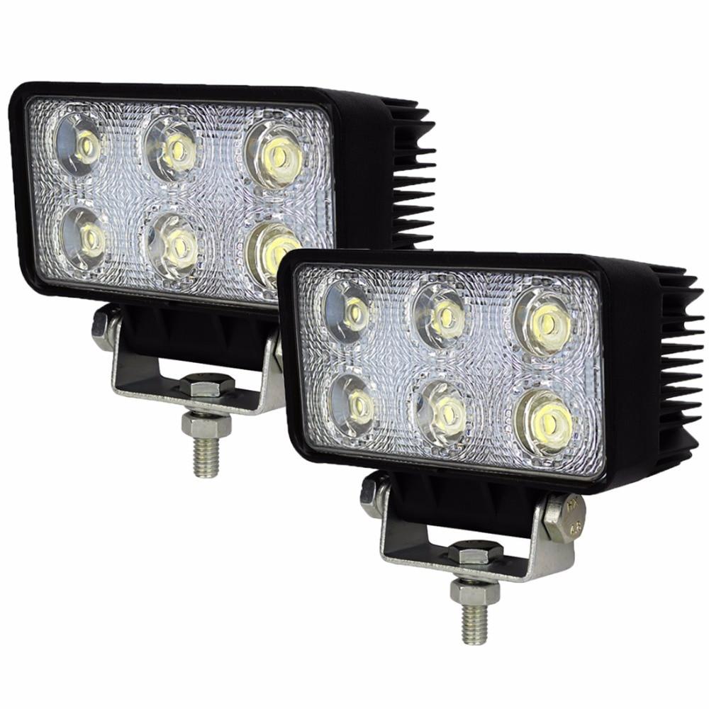 Safego 2pcs 12 Volt 18w Led Working Light Bulbs Worklight Driving 12v 24v Bulb Spot Flood