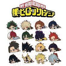 Keychain Academia Denki Anime Bakugo No-Hero Rubber-Strap Katsuki Boku Midoriya Eijiro