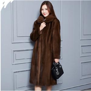 Image 2 - 2020 Faux Mink Fur Coat Women Winter New Fake Fur Coats For Women Long Artificial Fur Imitation Fur Jackets Plus Size 6Xl X935