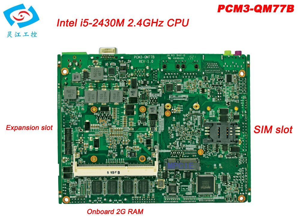 Newest motherboard itx industrial with core <font><b>I5</b></font> <font><b>2430M</b></font> CPU 2.4GHz PCM3-QM77B image