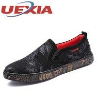 Spring Autumn Men Fashion Roses Floral Slip On Shoes Handsome Men Casual Breathable Skate Flat Loafers
