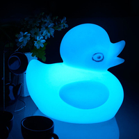 IP68 Waterproof Cute Duck LED Night Light Rechargeable Table lamp Remote Control Bar Party garden Lighting bedroom RGB Desk Lamp
