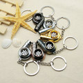 1 PCS Turbo Decoration Whistle Shape Keychain Bearing Keyring Turbo Charger  Key Chain Key Ring