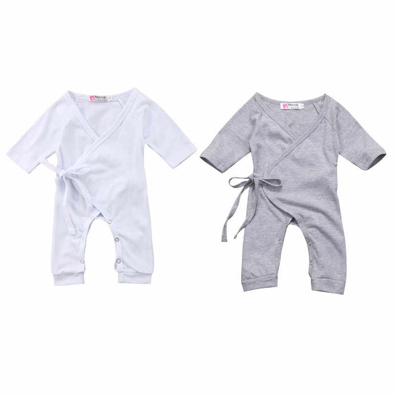 0-24M Newborn Infant Baby Boy Girl Romper New Solid Color Back Wing Little Angel Romper Baby Boy Girl Jumpsuit Playsuit Clothing