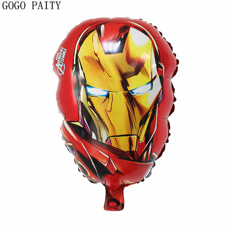 GOGO PAITY  Free Shipping Iron Man Toy Aluminum Balloon High quality party atmosphere decoration wholesale