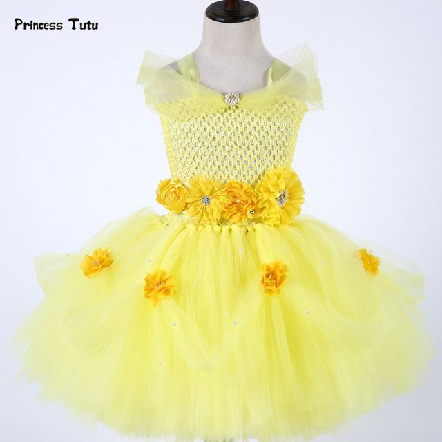 51b74a223 Belle Princess Dress Newborn Baby Girl Tutu Dress Tulle Baby ...