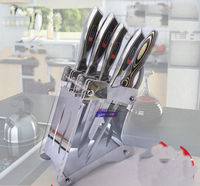 Regały kuchenne Akcesoria akryl uchwyt noża nóż kuchenny kuchnia dostarcza pleksi uchwyt (bez Noże)