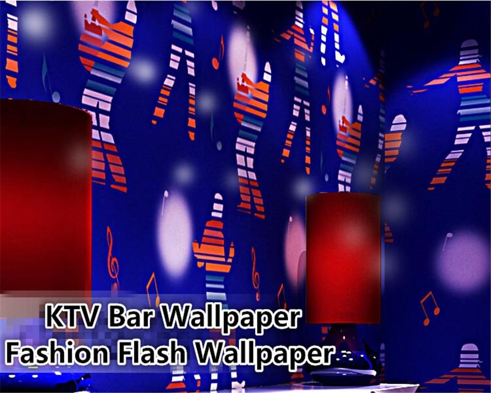 Us 435 25 Offbeibehang Pvc Foto Wallpaper Kepribadian Fashion Flash Wallpaper Bar Mewah Dance Hall Kotak Wallpaper Tema Untuk Ruang Tamu In