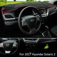 Car Front Dashboard Cover Dashmat for Solaris 2 2017 Dash Mat Pad Sun Shade Carpet Pad Fit For Hyundai Solaris 2