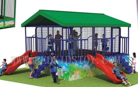 Sports & Entertainment Aspiring Exported To Tanzania High Quality Trampoline With Slide And Cover Direct Factory Hz-lg064