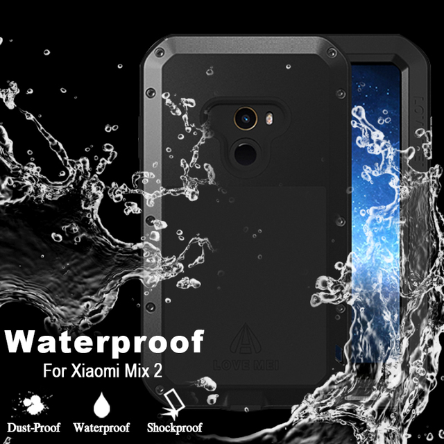 new products 4587e 3ee83 US $35.3 |For Xiaomi Mi Mix 2 Case Luxury Hard Shockproof Waterproof Case  For Xiaomi Mi Mix 2 Cover Original Love Mei Case For Mi Mix 2-in Fitted ...