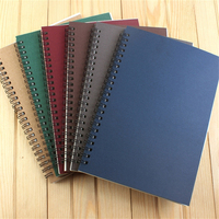 32K Coil Spiral Notebook A5 Notepad Office School Supplies Stationery Kraft Paper Exercise Book Student Vintage