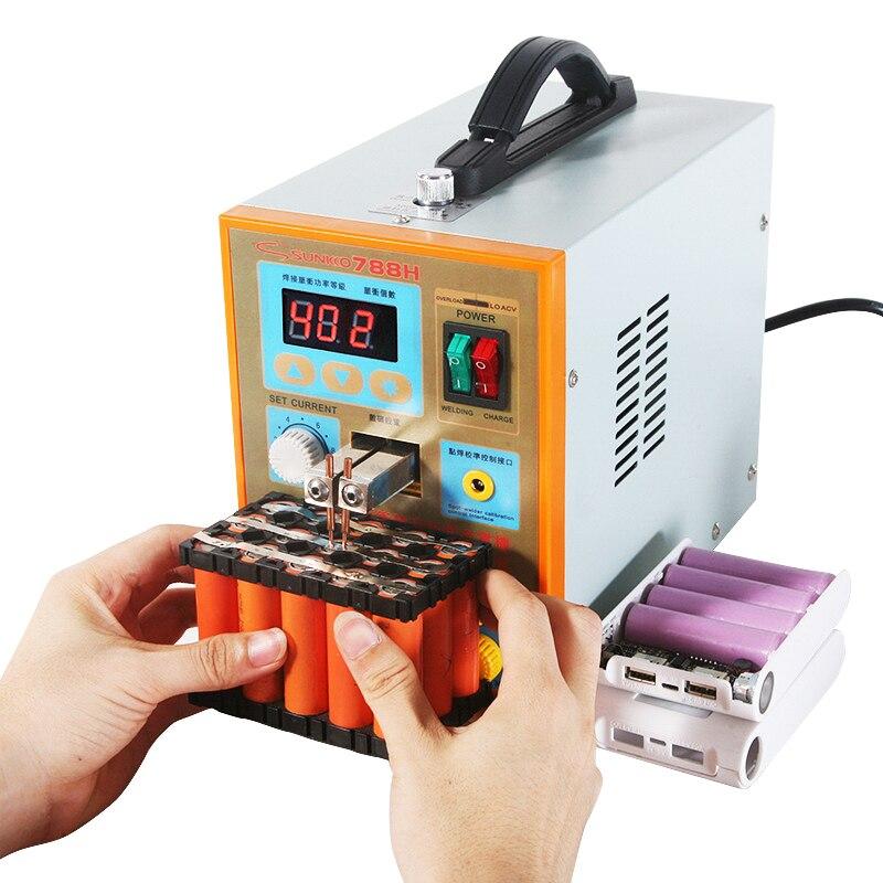 Battery Lithium Charging SUNKKO Battery LED Machine Light Welder 5kw Spot Test For Pack Weld Pulse 18650 Welding USB 1 788H Spot