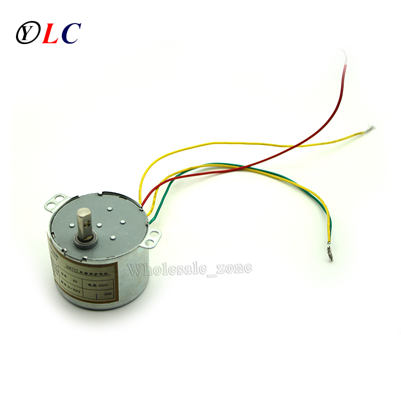 50KTYZ Metal Shell 1RPM AC 220V 8W Permanent Magnet Synchronous AC Motor Positive & Negative Controlled low-speed