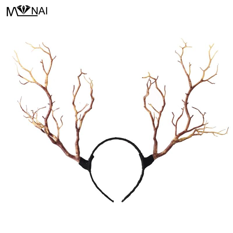 Gothic Retro Tree Branches Huvudband Props Horns Hair Accessory - Maskeradkläder och utklädnad - Foto 1