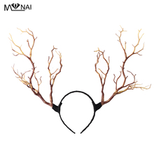 Gothic Retro Tree Branches Huvudband Props Horns Hair Accessory Steampunk Cosplay Halloween Party Headpieces Tillbehör Vintage