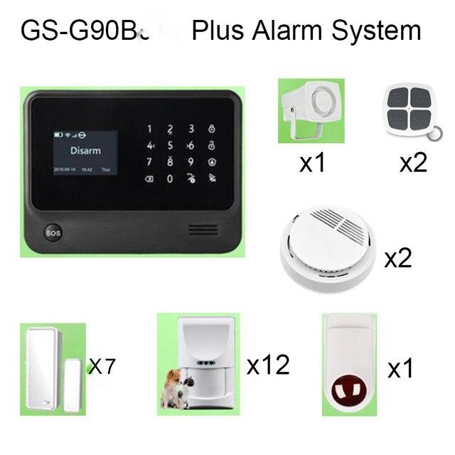 GS-G90B Plus Burglar Alarm System with Pet Friendly PIR Detector Smoke Detector and Siren джинсы мужские g star raw 604046 gs g star arc