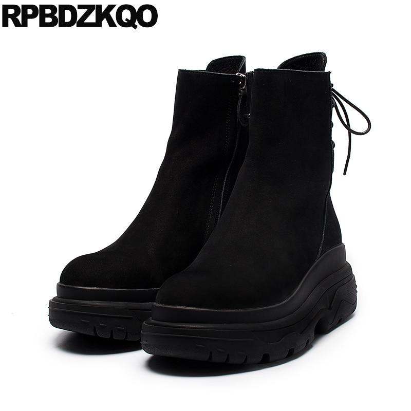 cc13b4198dd Encaje Señoras Negro Mujer Fur Otoño Hasta 2017 Zapatos Corto Punta Lined  Botas Zip Negro black Invierno Lujo Mujeres Las De Lado Moda ...