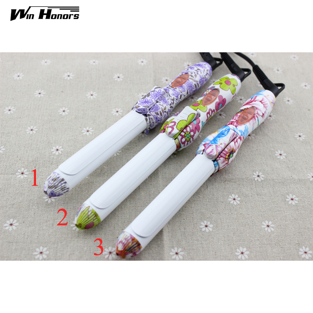 Ceramic Coating Hair Curler Rollers Mini Professional Flexi Rods Curling Iron For Hair Styling Tools Dual Voltage ckeyin 9 31mm ceramic curling iron hair waver wave machine magic spiral hair curler roller curling wand hair styler styling tool