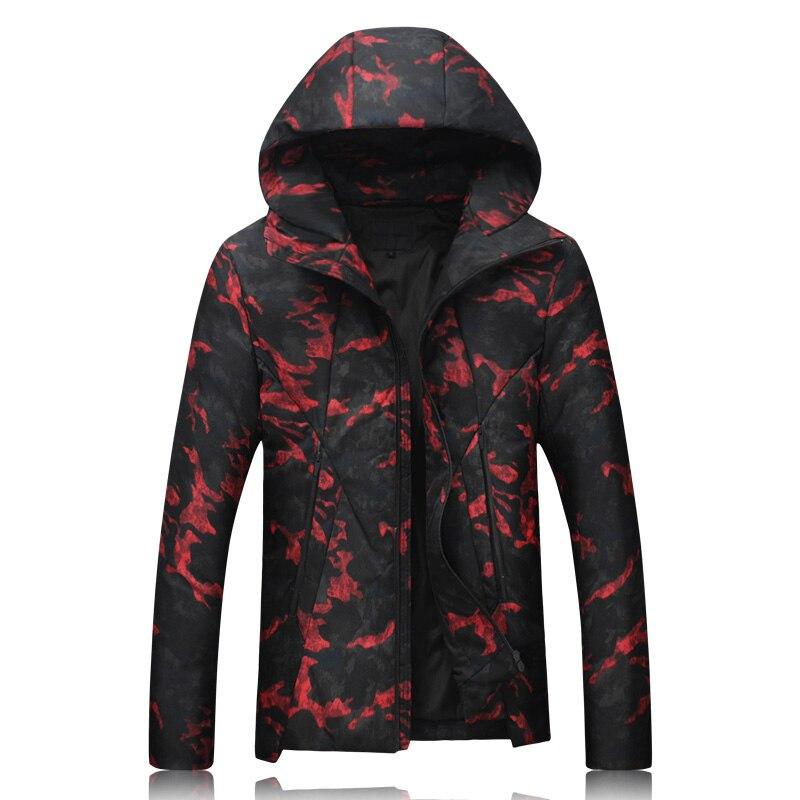2017 winter Mens jackets 80% white duck down thick hooded down jacket Mens hooded trench coat down jackets men Parkas