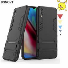 For Vivo Y93 Case Armor Phone Holder Bumper Shell Shockproof Anti-knock Cover Funda BSNOVT