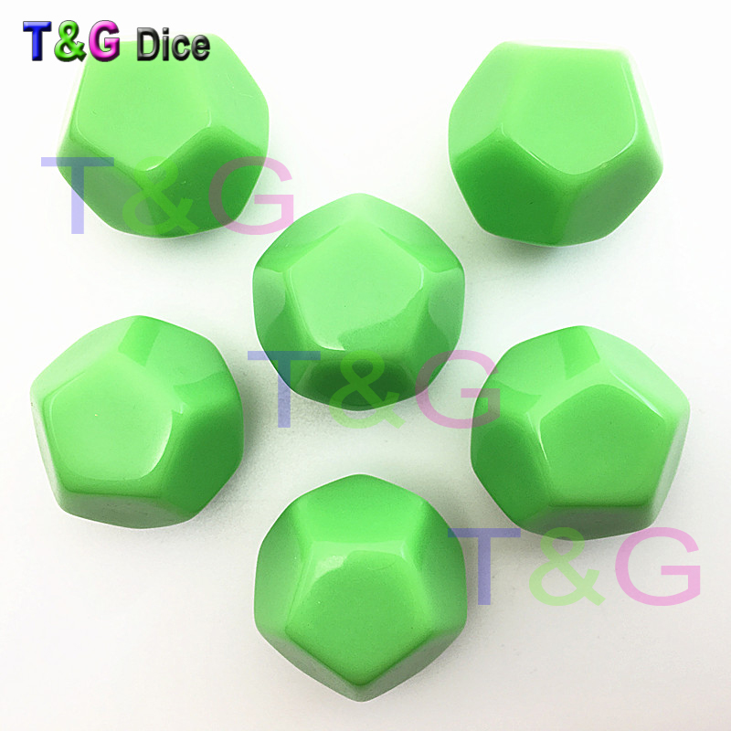 New Arrival 2pcs 12-sided D12 white blank dice can be written by pen for board game and other game accessories High Quality