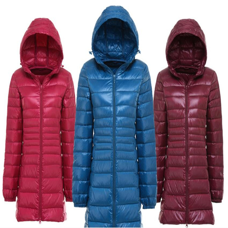 Autumn And Winter Women Stand Collar 90% White Duck Down Jacket Female Ultra Light Down Jackets Slim  Parkas Candy Color Fashio