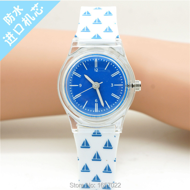 Orignal Women Fresh And Natural Design Quartz Dress Watch Watch Strap Shaped Pattern And Colourful  Kids Girl Candy Watch